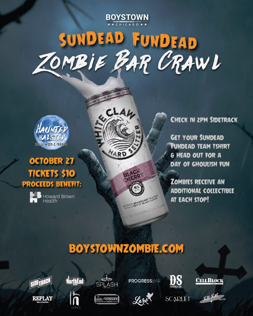 haunted halsted zombie bar crawl