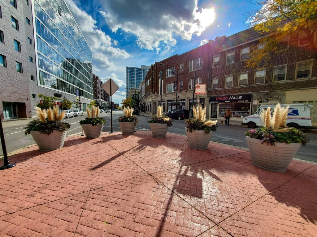 northalsted broadway clarendon chicago boystown landscaping planters northalsted ssa 18