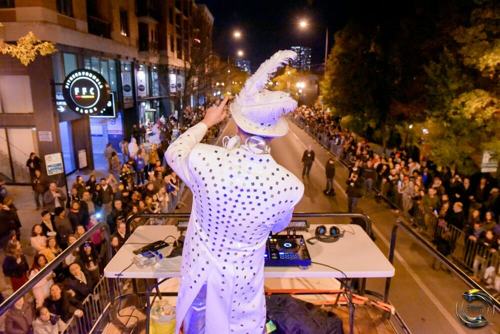 haunted halsted good bus chicago northalsted halloween parade