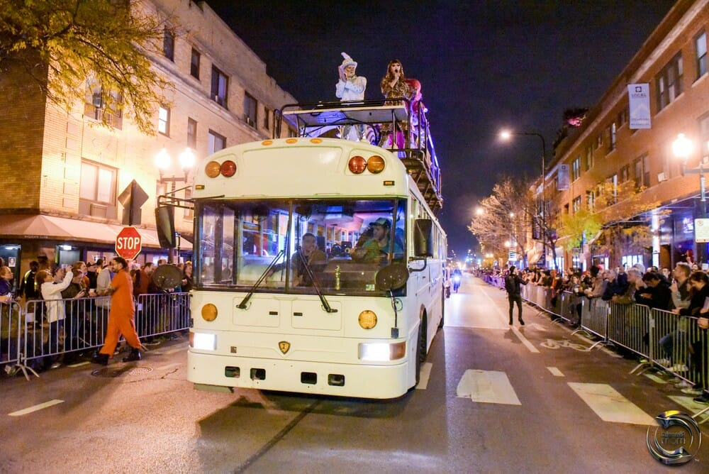 haunted halsted halloween good bus chicago parade northalsted