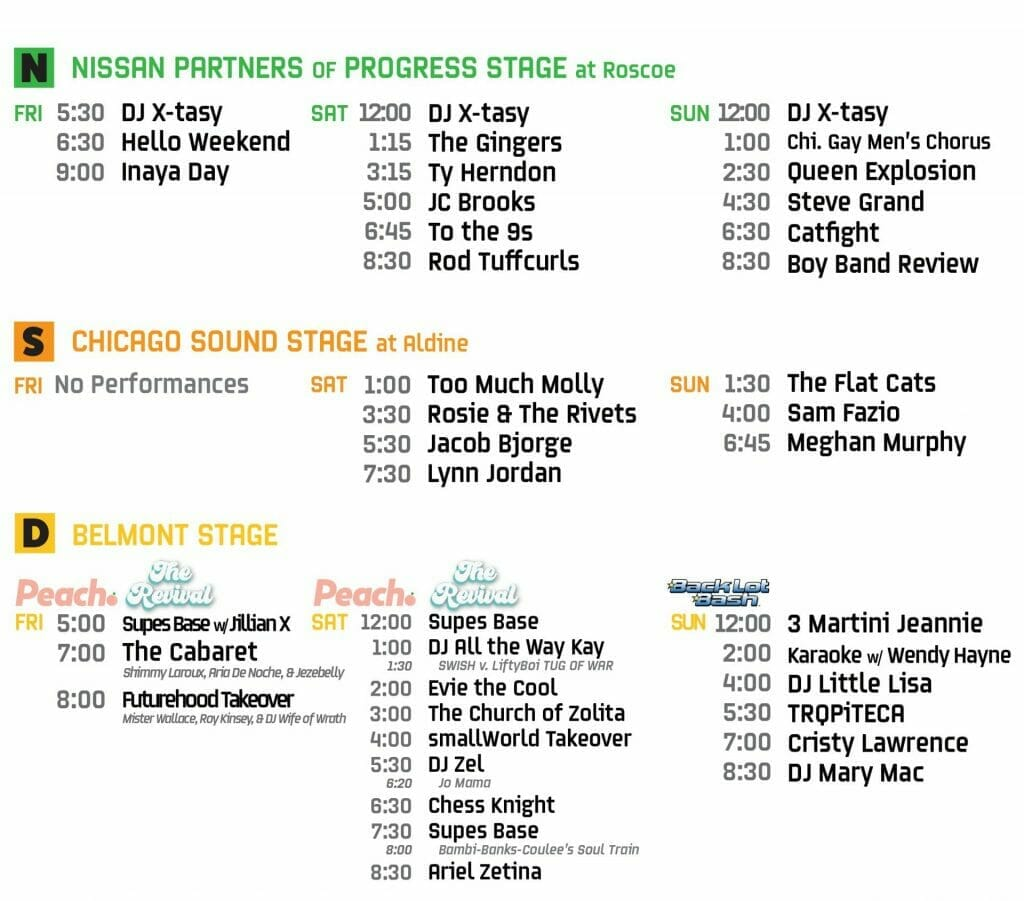 northalsted market days 2021 stage schedule n s d